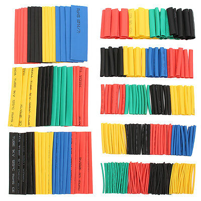 656pcs 8 Sizes Assortment 21 Heat Shrink Tubing Sleeving Wrap Wire Kit
