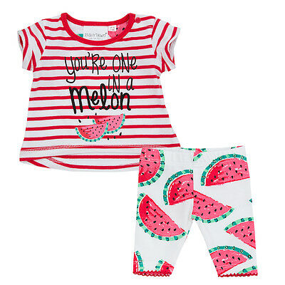 Preemie Newborn Baby Girls 2 Piece Clothes Set T-Shirt Leggings Summer Outfit