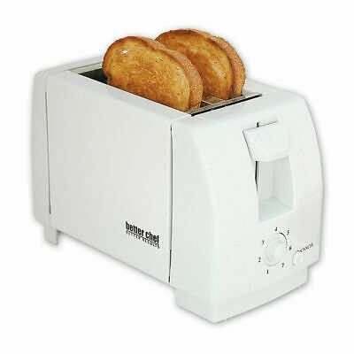 Off-white Compact 2 Slice Toaster - Bread Two Slice Bagel Buns Waffle Toaster