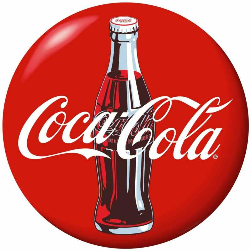 Coca-Cola Blue Bottle Disc Peel & Stick Wall Graphic