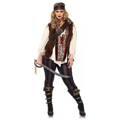 Pirate Costume Plus Size Adult Wench Halloween Fancy Dress (Plus Size Ladies Pirate Costume)