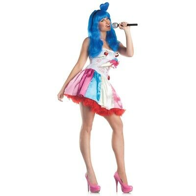 Pop Star Costume Adult Candy Girl Halloween Fancy Dress