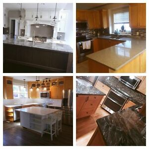 Granite/Quartz  Countertops, backsplash, tiles and Sinks!