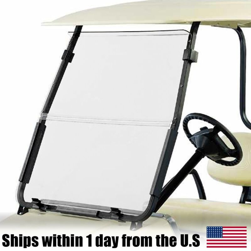 Clear Fold Down Acrylic Windshield fits Club Car DS 2000.5 - Up Golf Cart