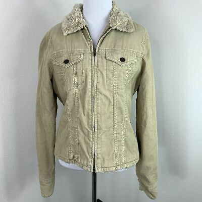 Abercrombie & Fitch 90s Vintage Corduroy Sherpa Lined Winter Coat Jacket Size L