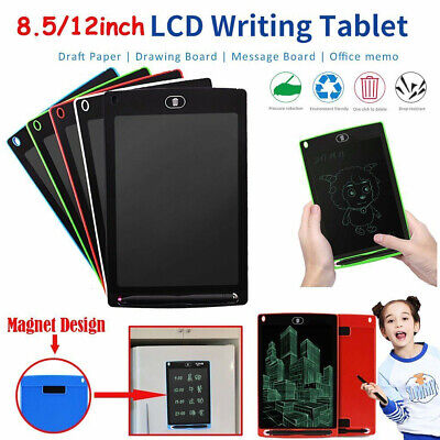 """8.5"""" LCD Writing Tablet Drawing Pad For Boogie Board Jot Style EWriter Stylus WH"""