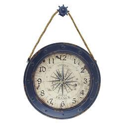 Large 23 Nautical Rose Compass Wall Clock Rustic Beach House Coastal Home Decor