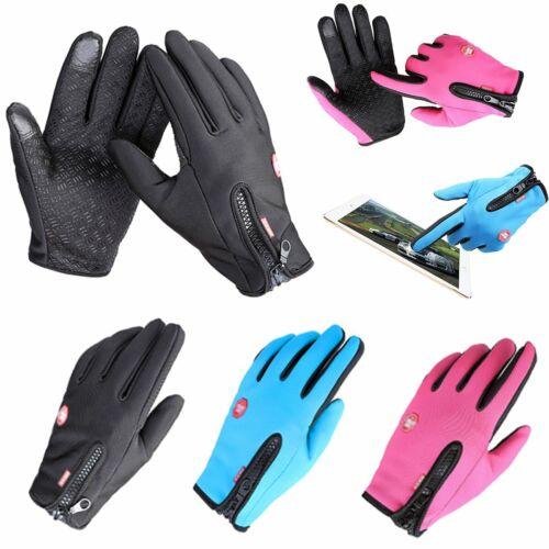 Waterproof Men/'s Women Winter Bicycle Ski Warm Motorcycle Touch Driving Gloves