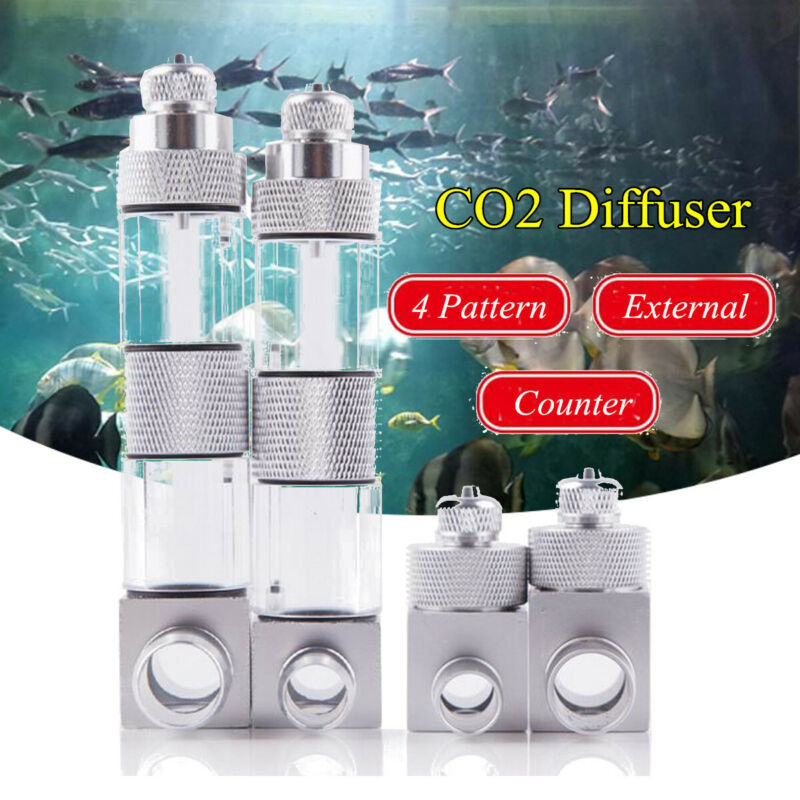 16/12mm External CO2 Diffuser Atomiser Aquarium Water Bubble Counter Chec
