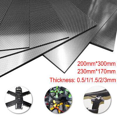 100% Carbon Fiber Plate Panel Sheet 3K  Glossy Matte Surface 0.5-3mm 100% Carbon Fiber