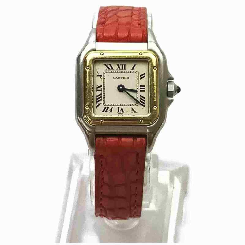 Cartier Watch Panthere 18Kbezel 1120 22mm Quartz Women's Whites X Reds 1704066