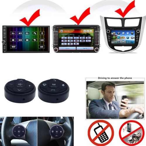 Black Car Steering Wheel Wireless Remote Control For GPS Navigation CD DVD