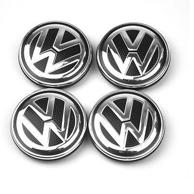 4X For VW VOLKSWAGEN WHEEL RIM CENTER HUB CAPS For BEETLE JETTA CABRIO GOLF 55MM