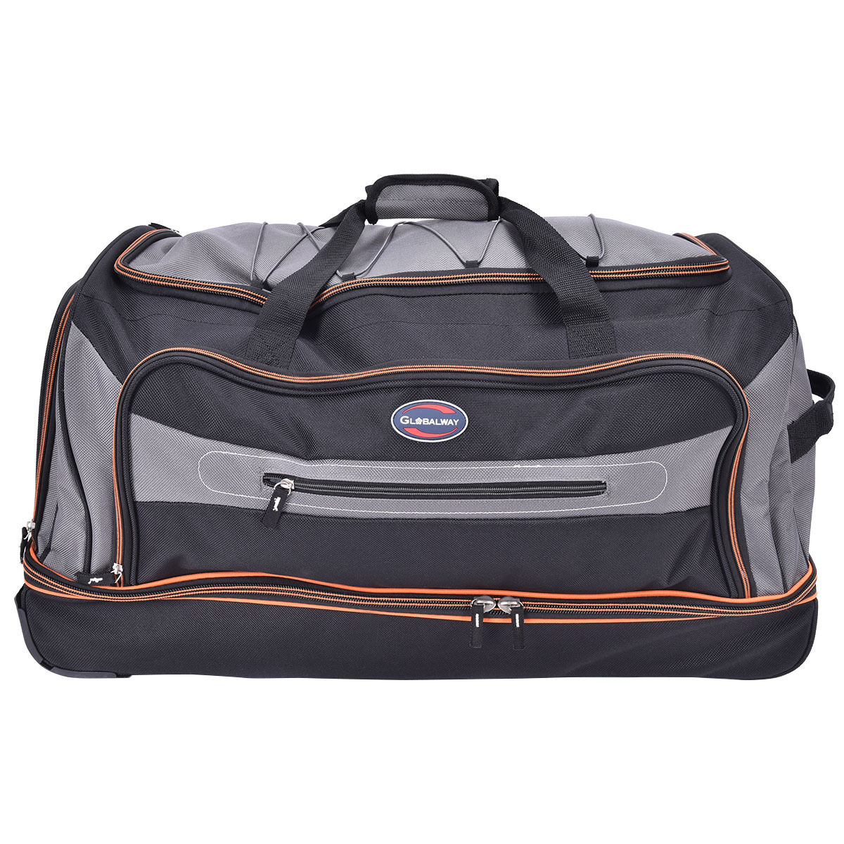 30 drop bottom rolling wheeled duffel bag carry on luggage travel suitcase picclick. Black Bedroom Furniture Sets. Home Design Ideas