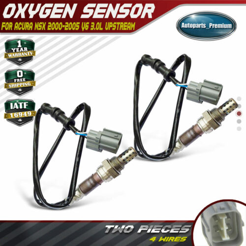 Upstream Front And Rear 2x 02 O2 Oxygen Sensors For Acura