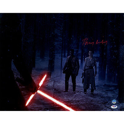 Daisy Ridley Star Wars Autographed Signed Rey In Forest 16X20 Photo Psa Dna