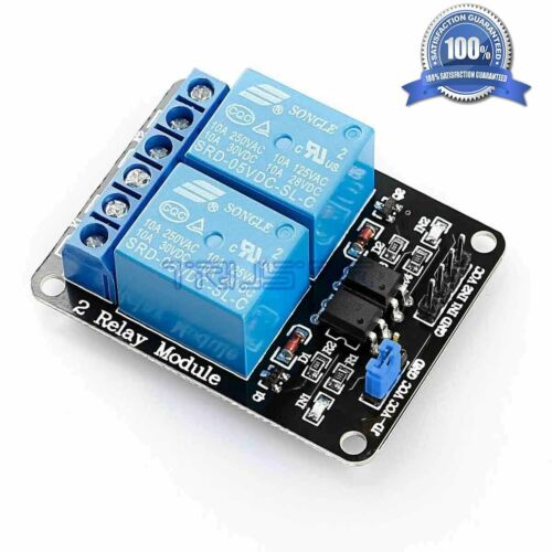 (Arduino-Compatible) 2-Channel 24V Relay Module With Optocoupler