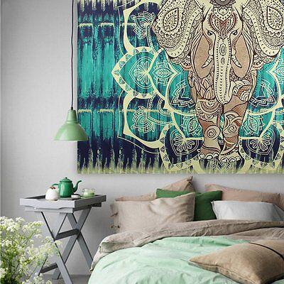 Indian Wall Hanging Hippie Mandala Tapestry Ethnic Dorm Decor Bedspread Elephant