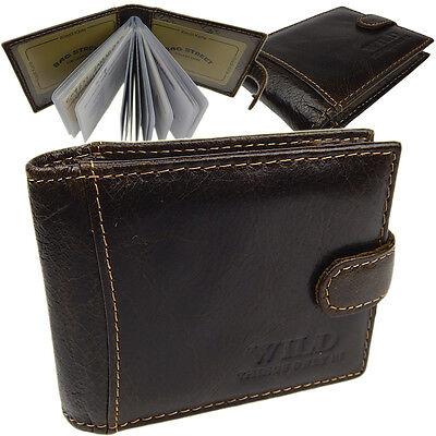 Leder Visitenkarten-Etui Kartenetui Herren Damen Kreditkarten  5514 Braun