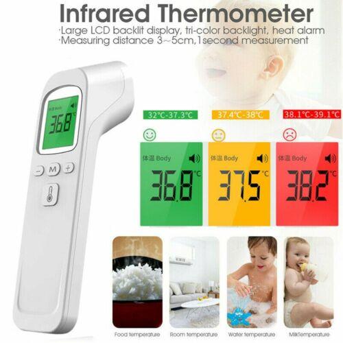 Infrarot Fieberthermometer Oberflächenmessgerät Kontaktlos Babys Erwachsene DE