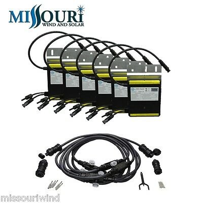 250 Watt Micro Grid Tie Inverter Package with Cable for solar panels