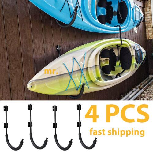 4 PCS Kayak Storage Wall Mount Hanger Rack for Canoe Paddle Kayak Hanging Hook