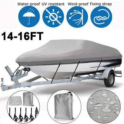 Used, Heavy Duty 14 15 16FT Trailerable Boat Cover Waterproof V-Hull Fishing Ski 210D for sale  Shipping to South Africa