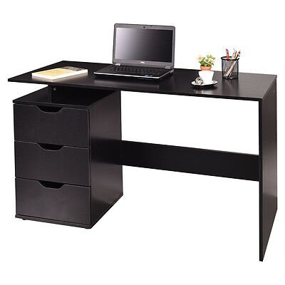Computer Desk Laptop PC Table Workstation Study Home Office Furniture w/3 Drawer
