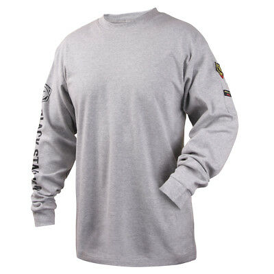 Revco Black Stallion Gray 7 Oz. Fr Cotton Knit Long-sleeve T-shirt Size Medium