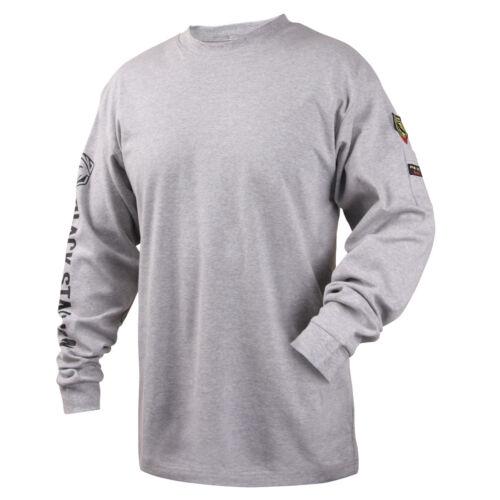 Revco Black Stallion Gray 7 oz. FR Cotton Knit Long-Sleeve T-Shirt Size 2X