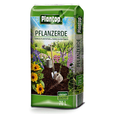 PLANTOP Pflanzerde 70 L Blumenerde 70 Liter Gartenerde Pflanzenerde Humus Erde
