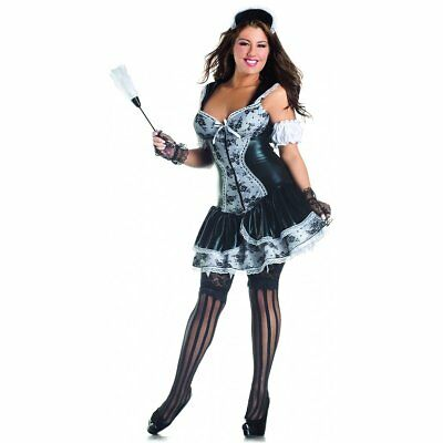 Party King French Maid Body Shaper Plus Size Costume](Plus Size Maid Costumes)