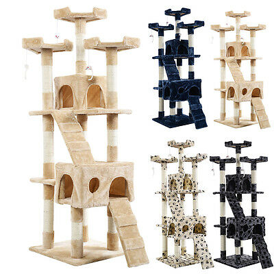 "New 66"" Cat Tree Tower Condo Furniture Scratching Post Pet Kitty Play House"