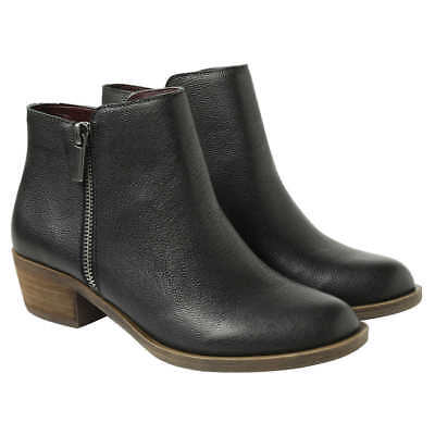 *SAVE* Kensie Women's Black Leather Ghita Short Ankle Boots Select Your Size - Black Women Booty