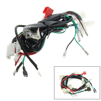 1X Motorcycle Machine Electric Start Wiring Loom Harness For Pit Bike 50cc-125cc