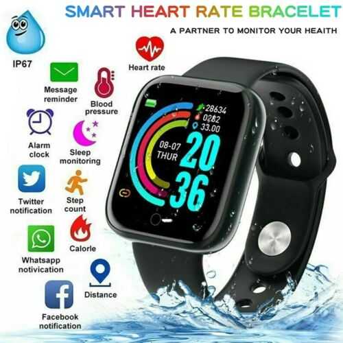 Smart Watch Reloj Inteligente Touch Women Men Heart Rate For iPhone Android IOS Cell Phones & Accessories