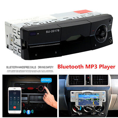 Car Audio Stereo MP3 Player Bluetooth Stereo Radio FM AUX Handsfree Calling US