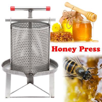 Honey Press Wax Machine Manual Beekeeping Presser Equipment Stainless Steel 304
