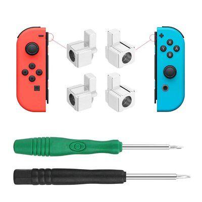 Metal L+R Grip Alloy Buckle Lock For Nintendo Switch Joy-Con Controller NS (Best Nintendo Switch Grips)