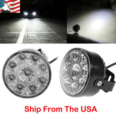 Pair 9 LED Work Light Bar Car Truck SUV Spot Beam Driving Fog OffRoad DRL Lamps