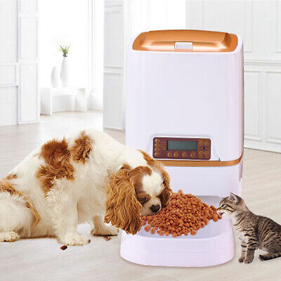 Automatic Pet feeder Food dispenser 6L Cat Dog Timer Programmable Voice Recorder ()