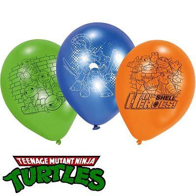 TMNT Ninja Turtles 6 Latex Balloon Half Shell Heroes Luftballon Geburtstag Party (Ninja Turtles Ballon)