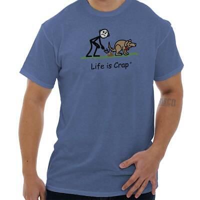 Life is Crap Pooper Scooper Funny Shirt Cool Adult Gift Edgy Classic T Shirt Tee Dog Poop T-shirt