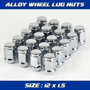 20 x Chrome Alloy Wheels Rim Nuts 12 x 1.5 to fit Mazda Toyota Honda Kia Hyundai