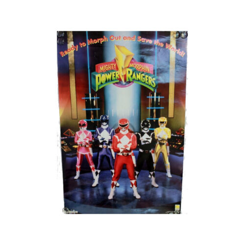 Vintage 1993 MIGHTY MORPHIN POWER RANGERS Saban #642 MMPR Poster New Sealed