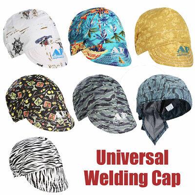 Welding Welder Protective Hat Cap Scarf Welders Flame Retardant Cotton Helmet Us