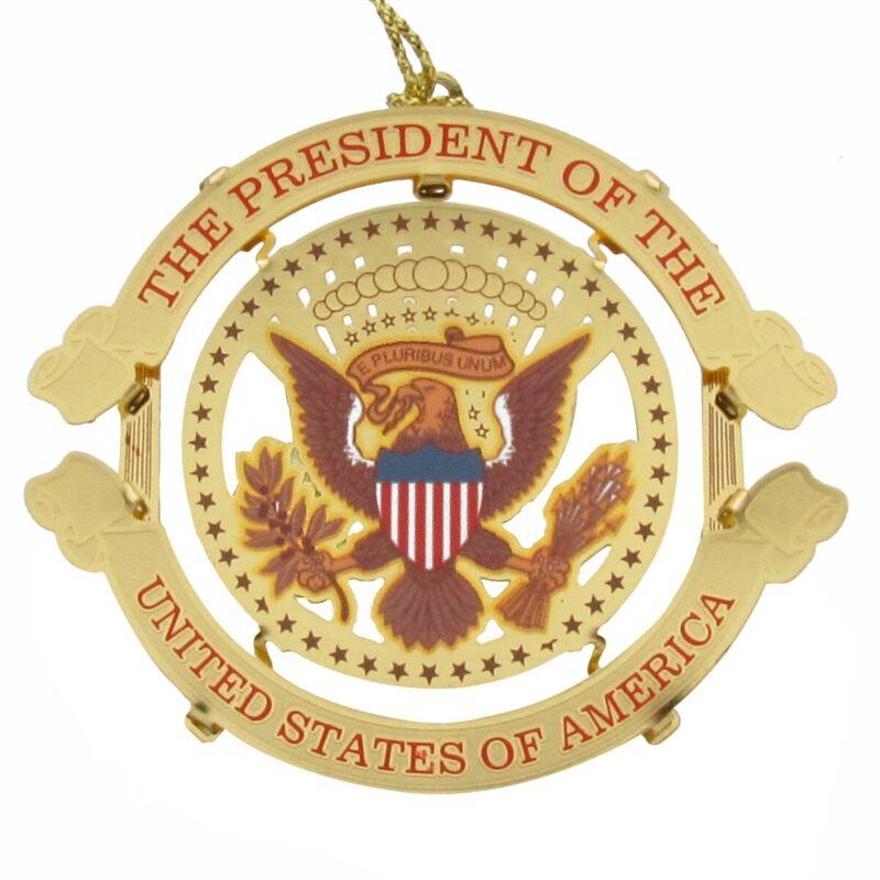 US President Donald Trump Presidential Seal Christmas Tree Ornament Gift Topper