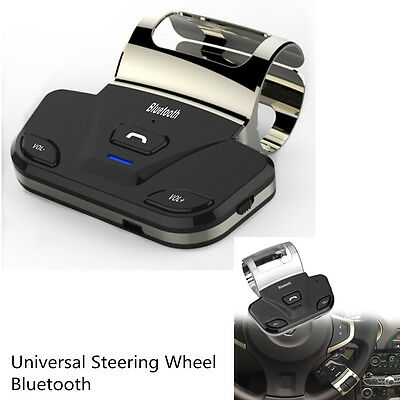 Car Steering Wheel Handsfree Bluetooth Speakerphone Kits Connect 2 Smart Phone
