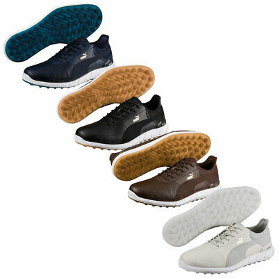 Puma Golf Mens Ignite Spikeless Lux Waterproof Leather Golf Shoes 42% OFF RRP