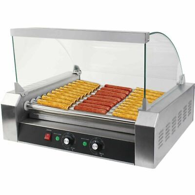 New Commercial 30 Hot Dog 11 Roller Grill Cooker Machine W Cover Ce New
